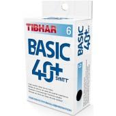 Пластиковые мячи TIBHAR BASIC 40+ SYNTT 6 шт.