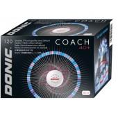 Пластиковые мячи DONIC COACH 40+ бел. 120 шт.