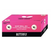 Пластиковые мячи BUTTERFLY EASY BALL 40+, 120шт.