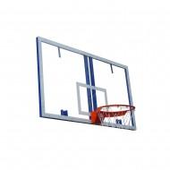 Щит баскетбольный игровой оргстекло с основанием 1800×1050