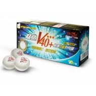 Мячи для настольного тенниса Double Fish 40+ 3*, 10 мячей в упаковке