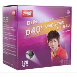 Мячи для н/т DHS 1* D40+ (DUAL) бел. 120 шт.