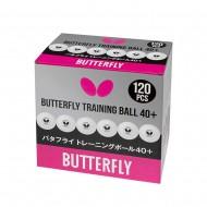 Мячи для н/т BUTTERFLY Training 40+ бел. 120 шт.