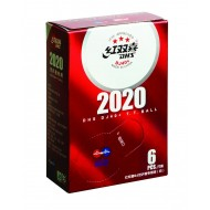Мячи для н/т DHS 3*** DJ40W DHS WTTC ITTF BUSAN 2020 бел. 6 шт.
